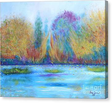 Canvas Print featuring the painting Pure Harmony by Stacey Zimmerman