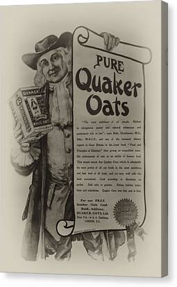 Quaker Oates Canvas Print - Pure Quaker Oates by Bill Cannon