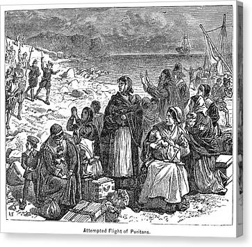 Puritan Flight Canvas Print by Granger
