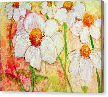 Purity Of White Flowers Canvas Print by Ashleigh Dyan Bayer