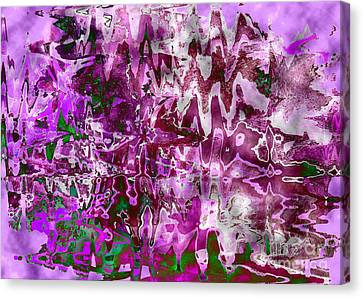 Purple Abstract Canvas Print by Carol Groenen