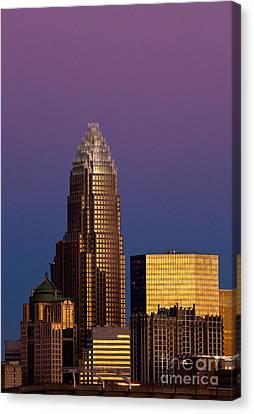 Purple Charlotte Skyline Canvas Print
