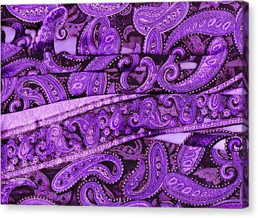 Purple Crossroads With Curves Canvas Print by Anne-Elizabeth Whiteway