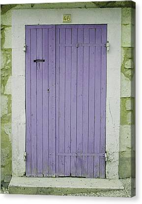 South Of France Canvas Print - Purple Door Number 46 by Georgia Fowler