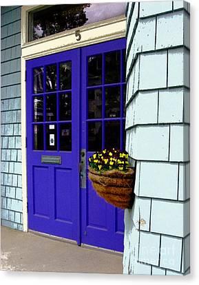 Purple Doors Canvas Print