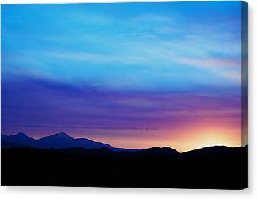 Purple Evening  Canvas Print by Kevin Bone