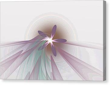 Purple Fractal Flower Canvas Print by Gina Lee Manley