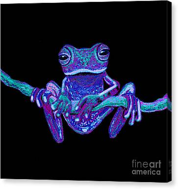 Purple Ghost Frog Canvas Print by Nick Gustafson
