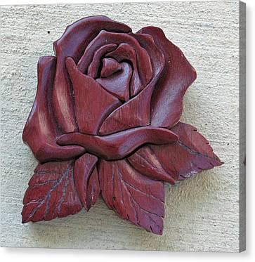 Purple Heart Rose Canvas Print by Bill Fugerer
