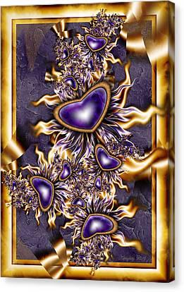 Purple Hearts Canvas Print by Karla White