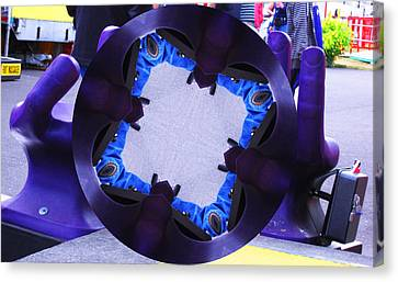 Canvas Print featuring the photograph Purple Magic Fingers Chair by Kym Backland