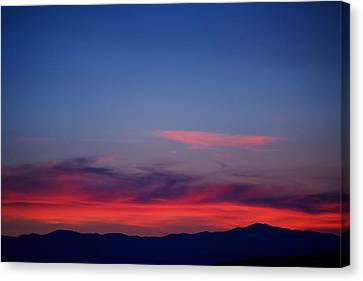 Purple Mountains Canvas Print by Kevin Bone