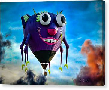Purple People Eater Canvas Print by Bob Orsillo