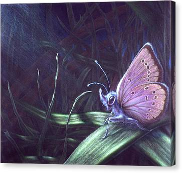Canvas Print featuring the painting Purple by Shawn Kawa