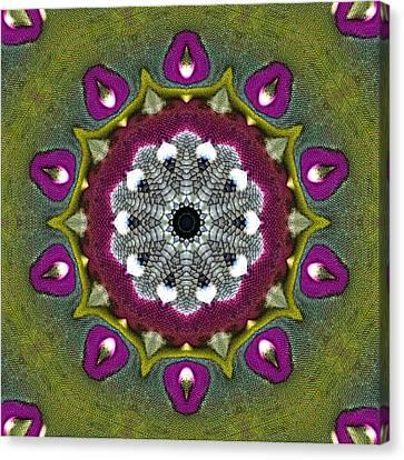 Canvas Print featuring the digital art Purple Snakeskin Flower by Alec Drake