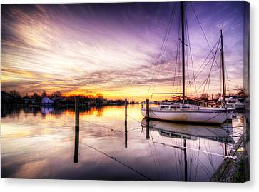 Purple Sunrise Canvas Print by Vicki Jauron