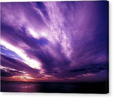 Purple Sunset Canvas Print by Erika Swartzkopf