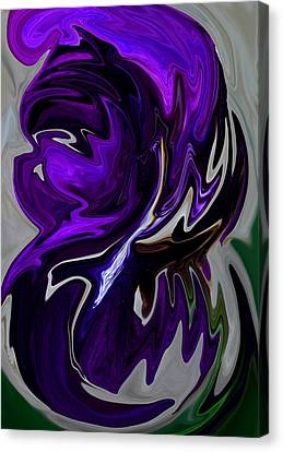 Purple Swirl Canvas Print by Karen Harrison