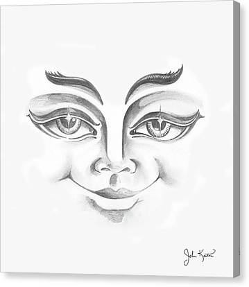 Put On Your Happy Face  Canvas Print by John Keaton