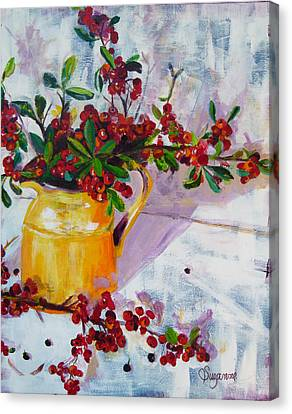 Pyracatha Pitcher Picture Canvas Print by Suzanne Willis