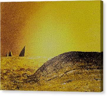 Pyramids Tiled Canvas Print