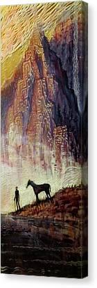 Pyrenees Dream Canvas Print by Michael Langenheim
