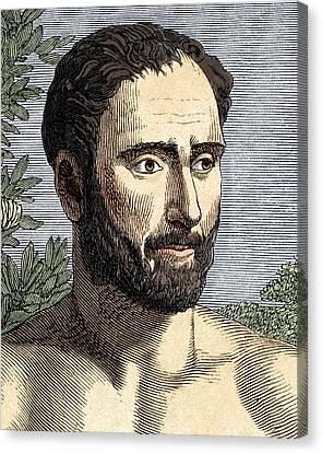 Pythagoras, Ancient Greek Philosopher Canvas Print by Sheila Terry