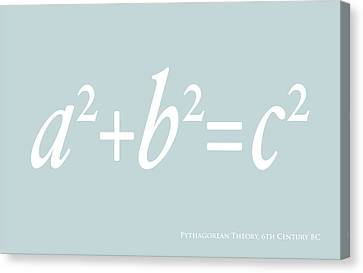 Pythagoras Maths Equation Canvas Print