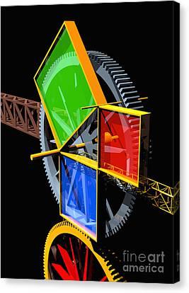 Pythagorean Machine Portrait 2 Canvas Print by Russell Kightley