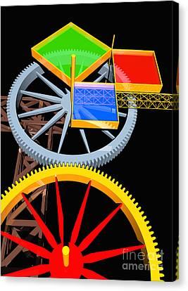 Pythagorean Machine Portrait 7 Canvas Print by Russell Kightley