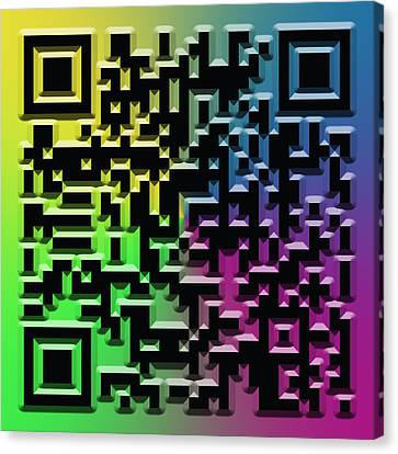 Qr Art Canvas Print by Ricky Barnard