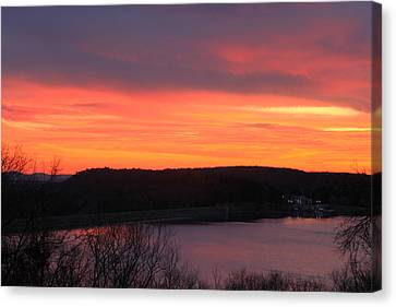 Quabbin Reservoir Windsor Dam Sunset Canvas Print