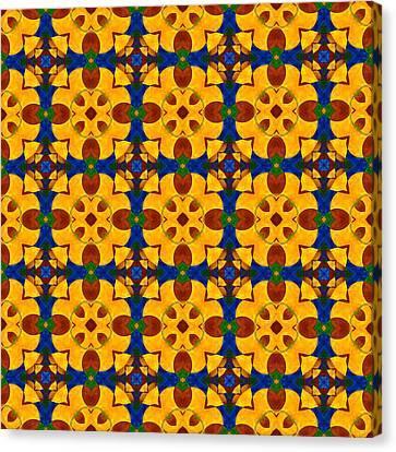 Quadrichrome 13 Symmetry Canvas Print by Hakon Soreide