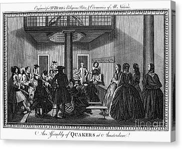 Quaker Meeting, C1790 Canvas Print by Granger