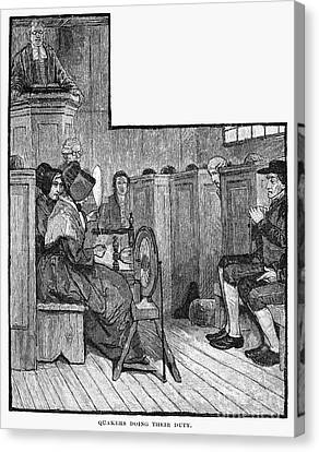 Quaker Meeting Canvas Print by Granger