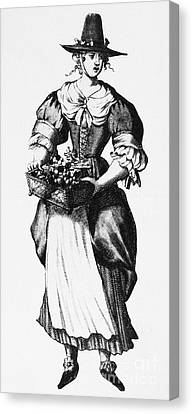 Quaker Woman, 17th Century Canvas Print by Granger