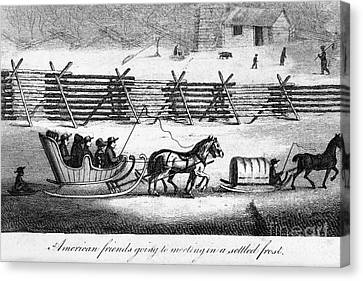 Quakers Going To Meeting Canvas Print by Granger