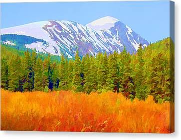 Quandary Peak Canvas Print by Brian Davis