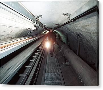 Quantum Entanglement Tunnel Canvas Print by Volker Steger