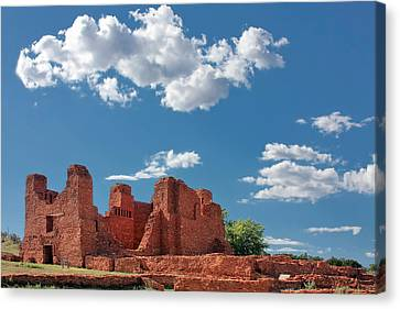 Quarai Ruins At Salinas Pueblo Missions National Monument Canvas Print by Christine Till