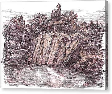 Quarry At Halibut Point Canvas Print