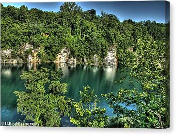 Quarry Of Reflections Canvas Print by Heather  Boyd