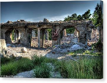 Quarry Ruins Canvas Print by Heather  Boyd