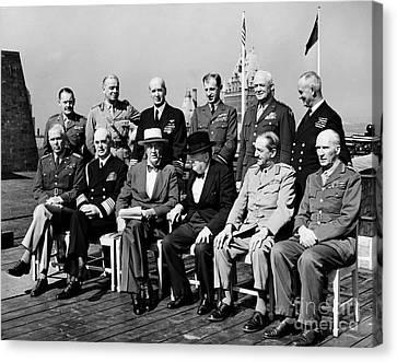 Democrats Canvas Print - Quebec Conference, 1944 by Granger