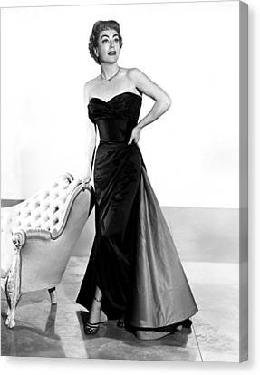 Queen Bee, Joan Crawford, In A Gown Canvas Print by Everett