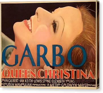 Queen Christina, Greta Garbo, 1933 Canvas Print by Everett