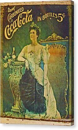 Queen Drinks Coca Coala Canvas Print by Cyryn Fyrcyd