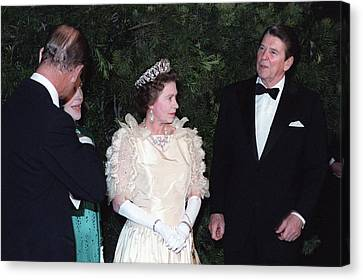 Queen Elizabeth II And Prince Philip Canvas Print by Everett