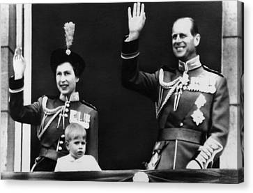 Queen Elizabeth II Back Left, The Queen Canvas Print by Everett