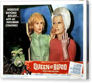 Queen Of Blood, Lobbycard, Judi Canvas Print by Everett